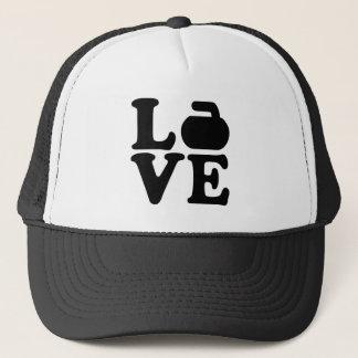 Curling love trucker hat