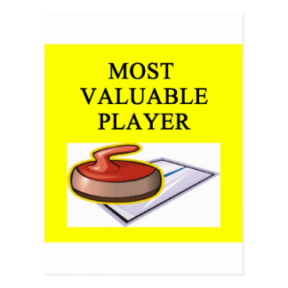 CURLING most valuable player Postcard
