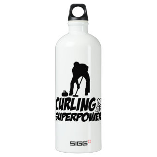 curling my superpower aluminum water bottle