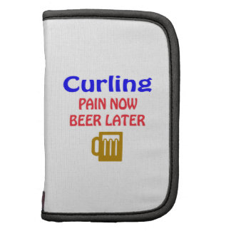 Curling pain now beer later folio planner