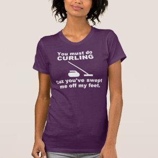 Curling pick up line tshirts