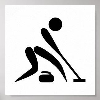 Curling Pictogram Print