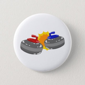 Curling Pinback Button