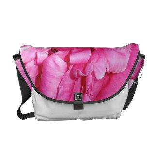 """Curling"" Pink Peony Messenger Bag"