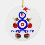 Curling Player Christmas Christmas Tree Ornament