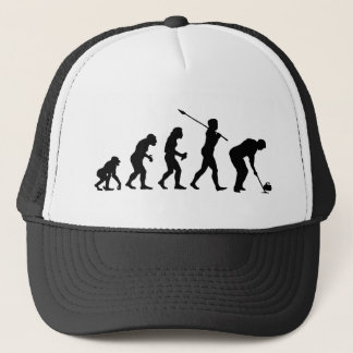 Curling Player Trucker Hat