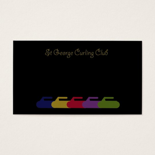 curling rainbow business card