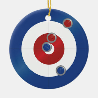 Curling rings ceramic ornament