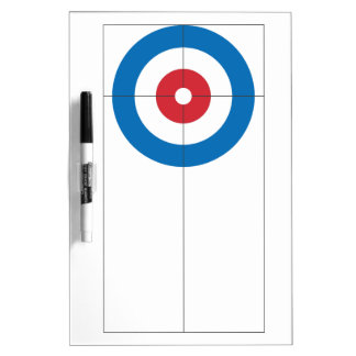 Curling rings dry erase whiteboard