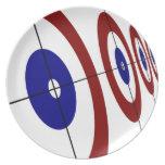 Curling Rings Melamine Plate