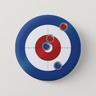 Curling rings pinback button