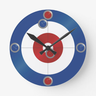 Curling rings wall clock