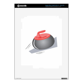 Curling Rock Decal For iPad 3