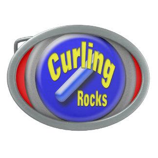 Curling Rocks Belt Buckle