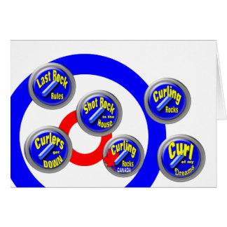 Curling Rocks Canada Greeting Card