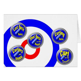 Curling Rocks Greeting Card