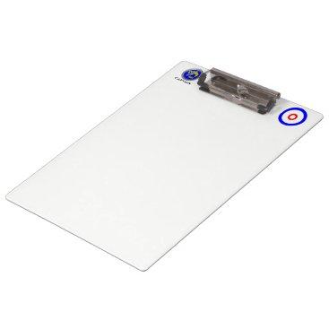 USA Themed Curling rocks clipboard