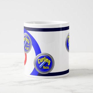 Curling Rocks 20 Oz Large Ceramic Coffee Mug