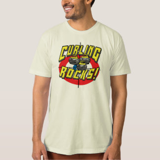 Curling Rocks Yellow Stones t-shirts Gift Ideas