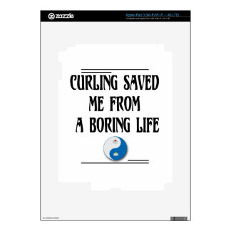 Curling Saved me from a Boring Life Decal For iPad 3