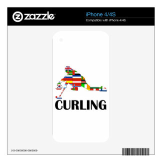Curling Skin For iPhone 4S