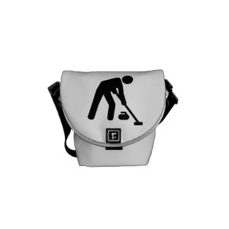 Curling sports player courier bags