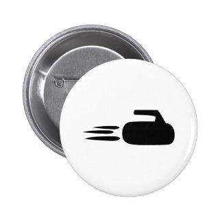 curling stone icon button