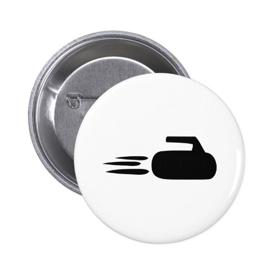 curling stone icon button