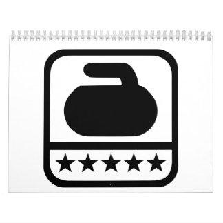 Curling stone stars calendar