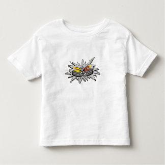 Curling stones toddler t-shirt