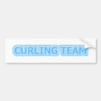 [ Curling Team ] Retro Reverb Collector's Edition Bumper Sticker