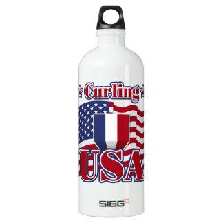 Curling USA Aluminum Water Bottle