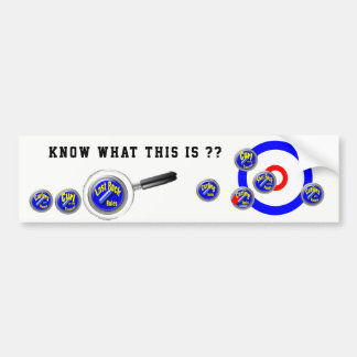 Curling USA and Canada Bumper Sticker