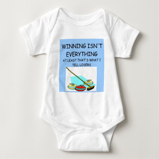 CURLING winner Baby Bodysuit