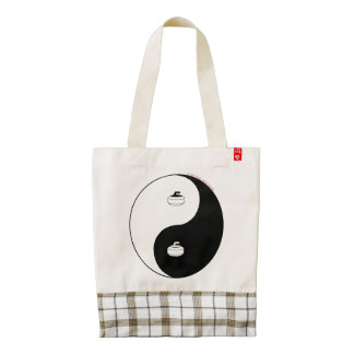 Curling Zazzle HEART Tote Bag