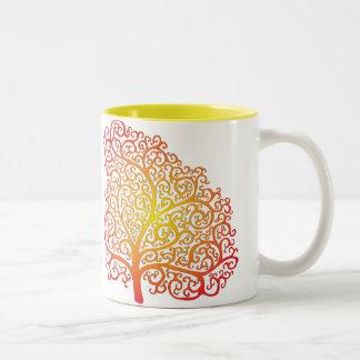 CurliQ Flaming Trees Mug