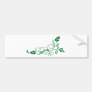 curls and leafs bumper sticker