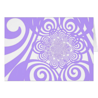 Curls and Swirls - Periwinkle Card