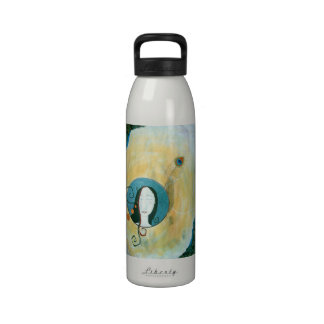 """""""Curls of a Feather"""" Artsy Water Bottle"""