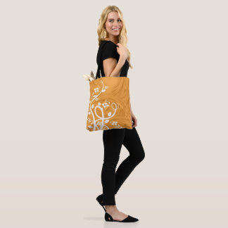 Curls Over Orange Artwork Tote Bag