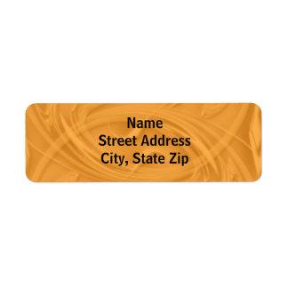 Curls Over Orange Label