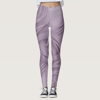 Curls Over Purple Artwork Leggings