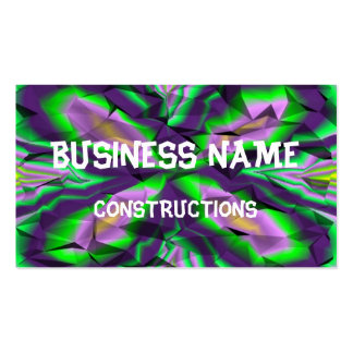 Curly abstract pattern business card