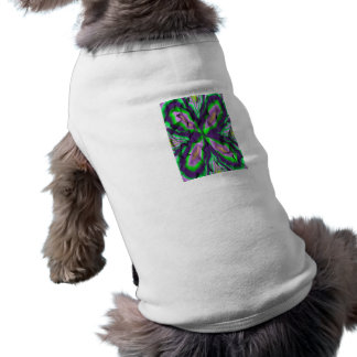 Curly abstract pattern pet t-shirt