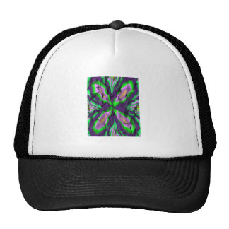 Curly abstract pattern trucker hat