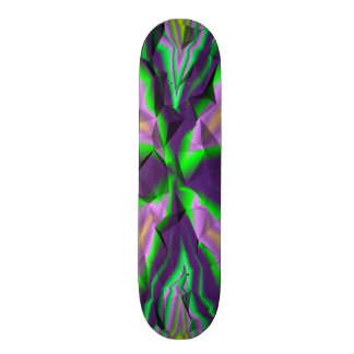 Curly abstract pattern skate boards