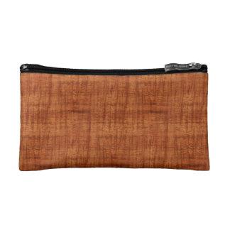 Curly Acacia Wood Grain Look Cosmetic Bag