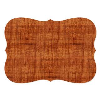 Curly Acacia Wood Grain Look Card