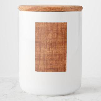 Curly Acacia Wood Grain Look Food Label
