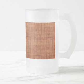 Curly Acacia Wood Grain Look Frosted Glass Beer Mug